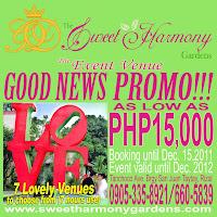 Sweet php15, 000.00 Harmony Garden's Promo
