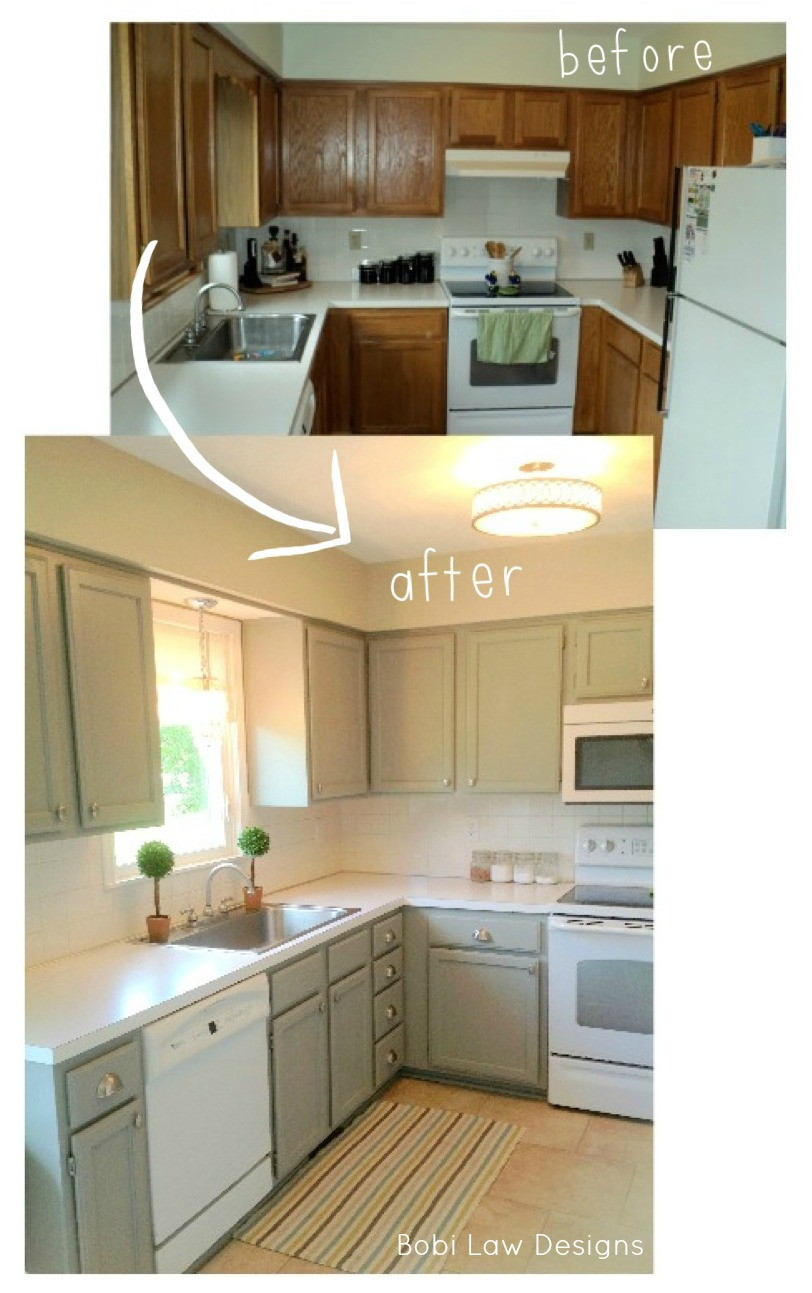 Little u shaped kitchens photos best home decoration for Before after kitchen makeovers