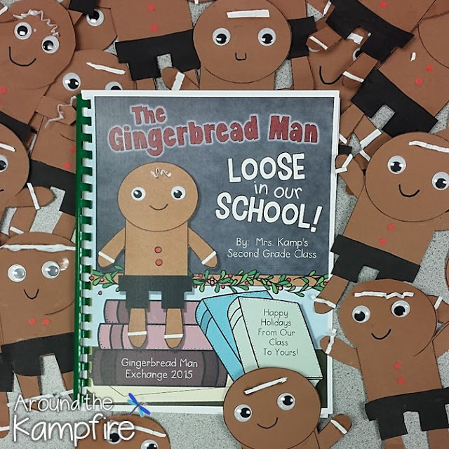 The Gingerbread Man Loose in our School class book and craft