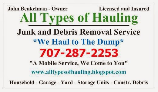 All types of hauling junk and debris removal all types of contact information business card reheart Image collections
