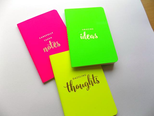 Eccolo neon notebooks from TK Maxx