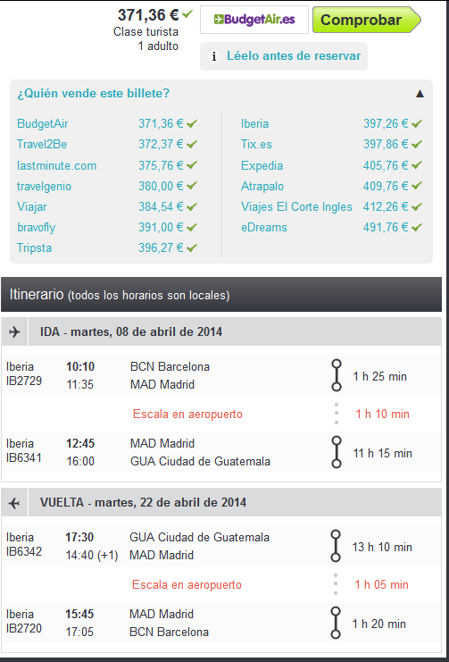 Vuelo low cost a Guatemala
