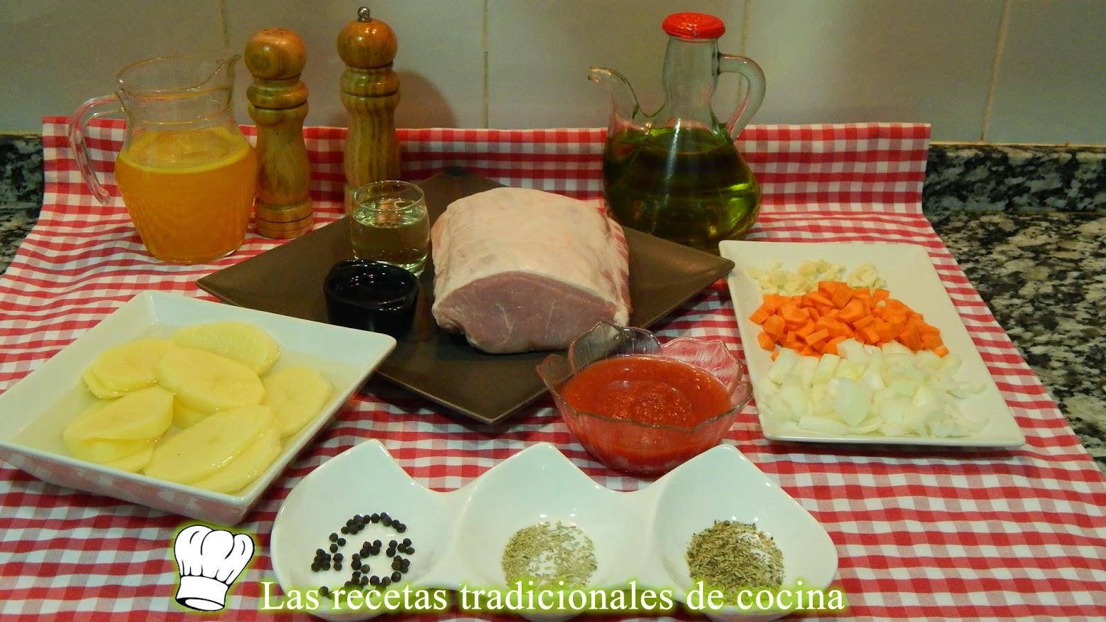 Receta de lomo al horno con salsa