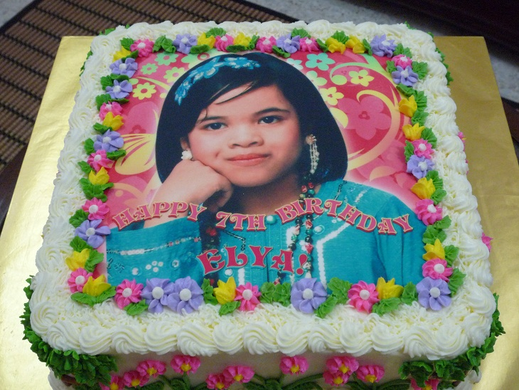 Birthday Cake With Custom Print Edible Image Ordered By Pn Ita Of Wangsa Maju