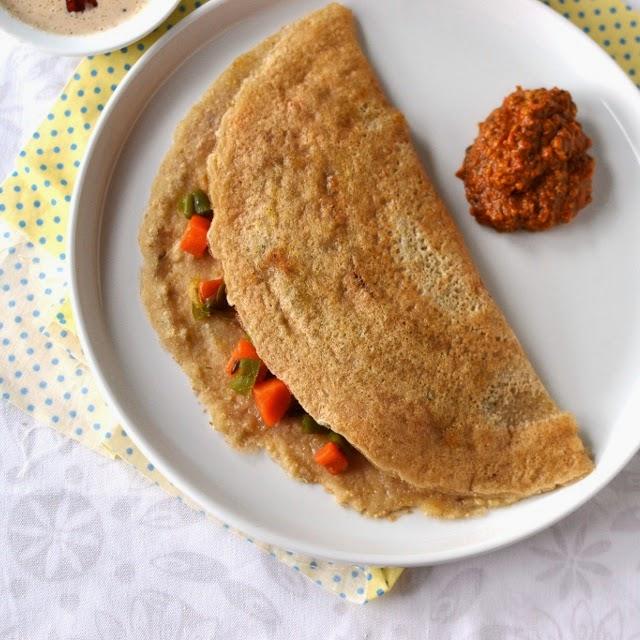 Wheat Rava Dosa (Godhuma pindi-rava Dosa)
