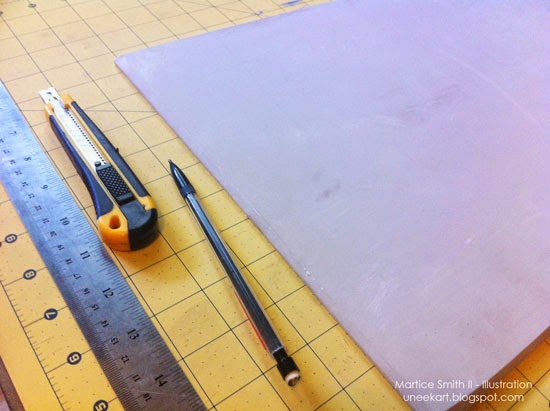 TUTORIAL:: Chevron Stamp supplies by Martice Smith II