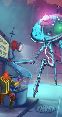 Robot alienígena.