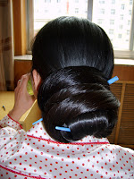 Very Long Hair Bun Style photos