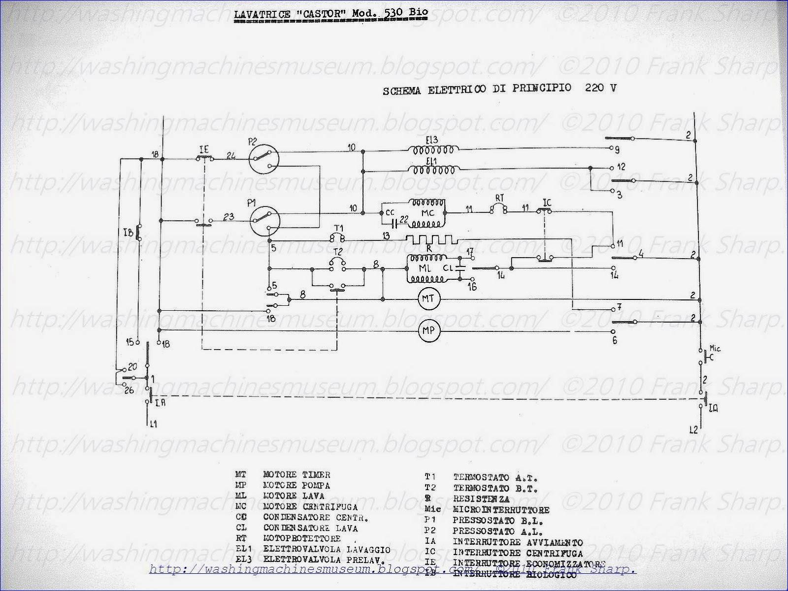 washer rama museum   castor mod  530  u0026quot bio u0026quot  schematic diagram