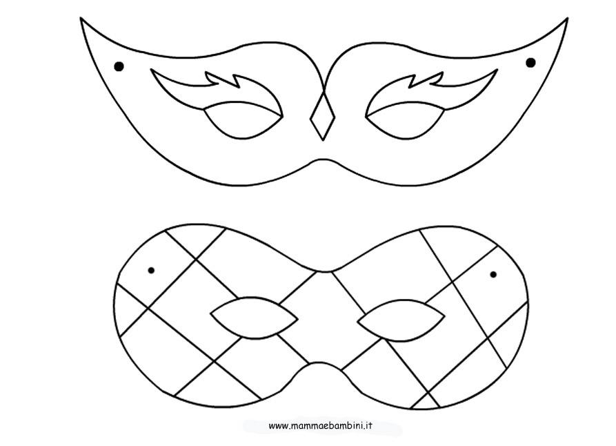 Elegante disegni da colorare di carnevale maschera di mini for Maschera di flash da colorare