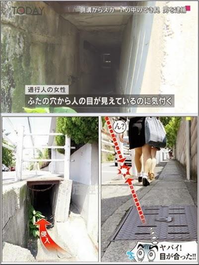 ... dari Kobe sebab dia mengintip daleman cewek dengan cara bersembunyi