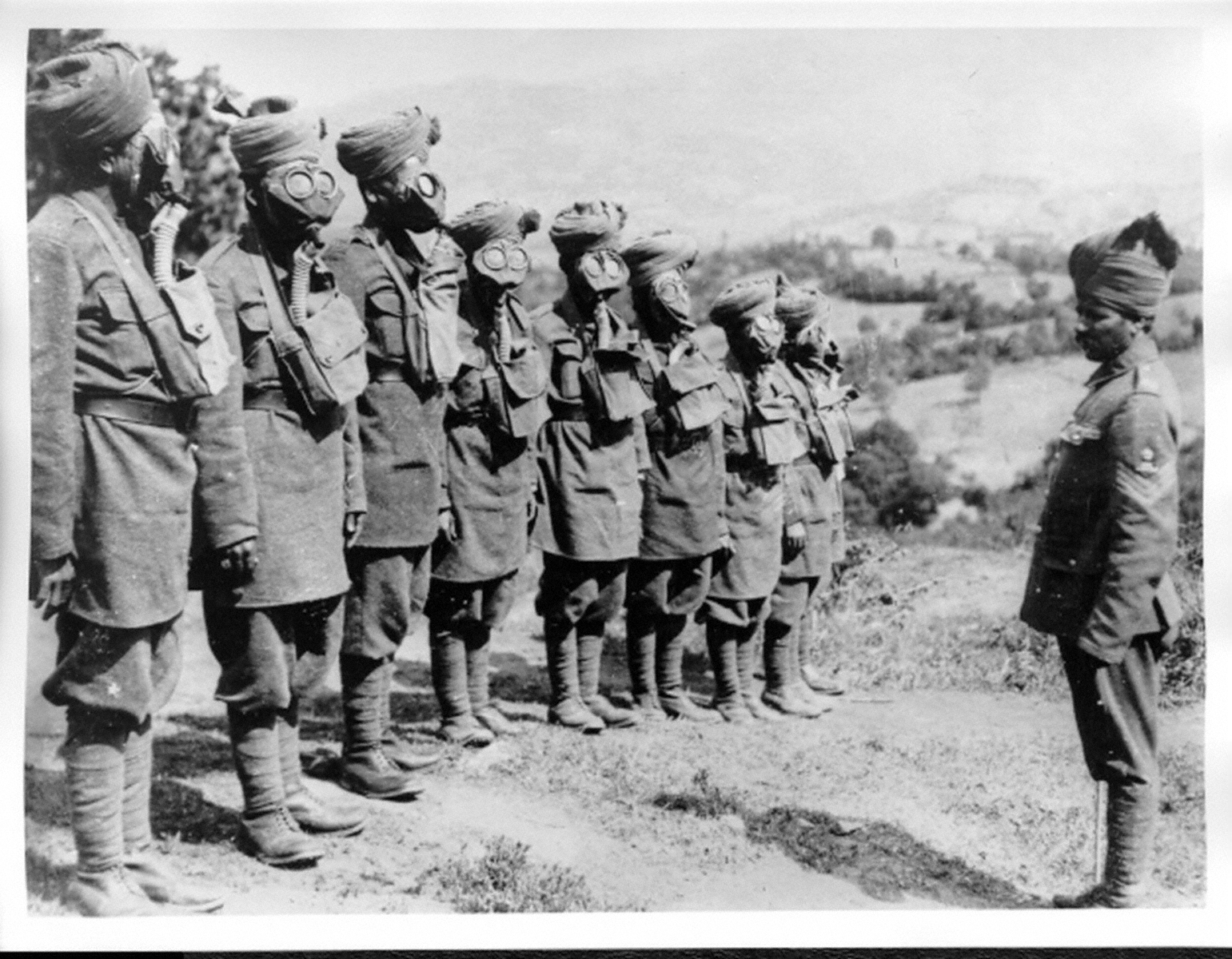 Indian pows in the ottoman empire during wwi indian troops at gas mask drill world war i source imperial war museum photographic archive publicscrutiny Images