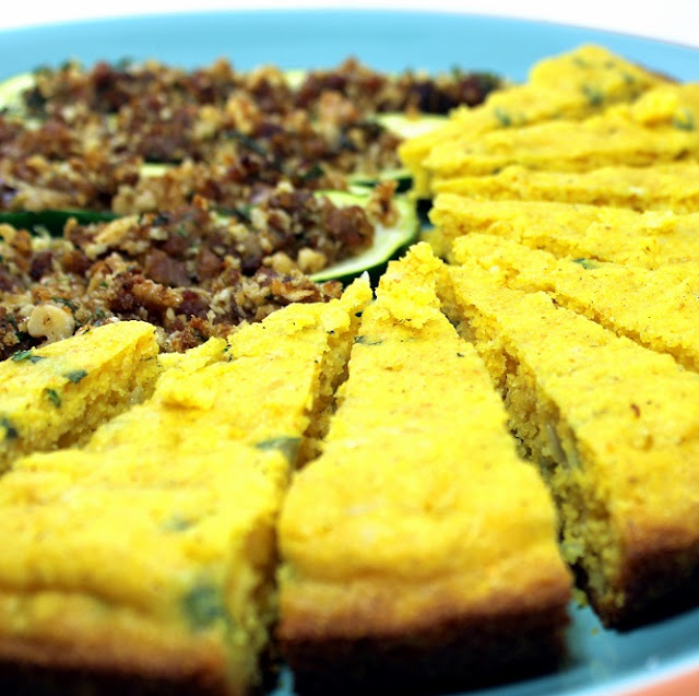 creamy sweet loaded corn bread made on a grill - 52 cowboy side dishes from the grill