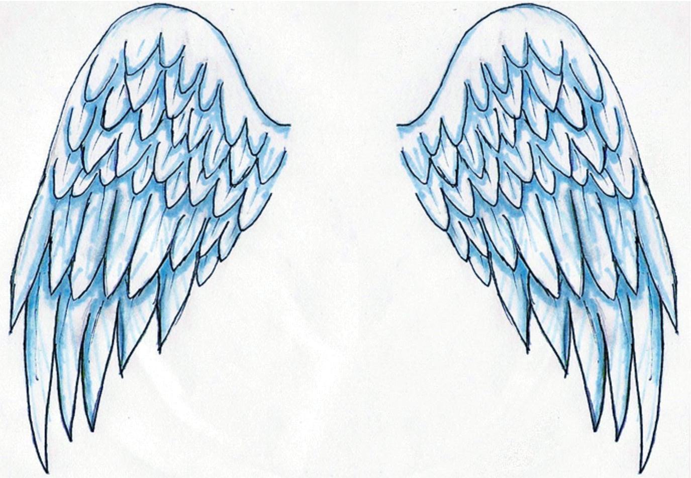Dibujos y Plantillas para imprimir Alas de Angel