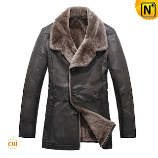 Mens Designer Shearling Coat