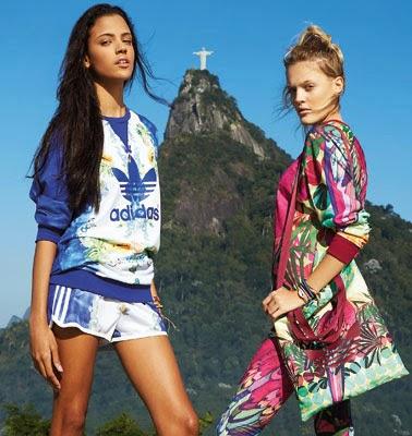 Farm Adidas Originals coleção outono inverno moletom shorts leggin e sacola