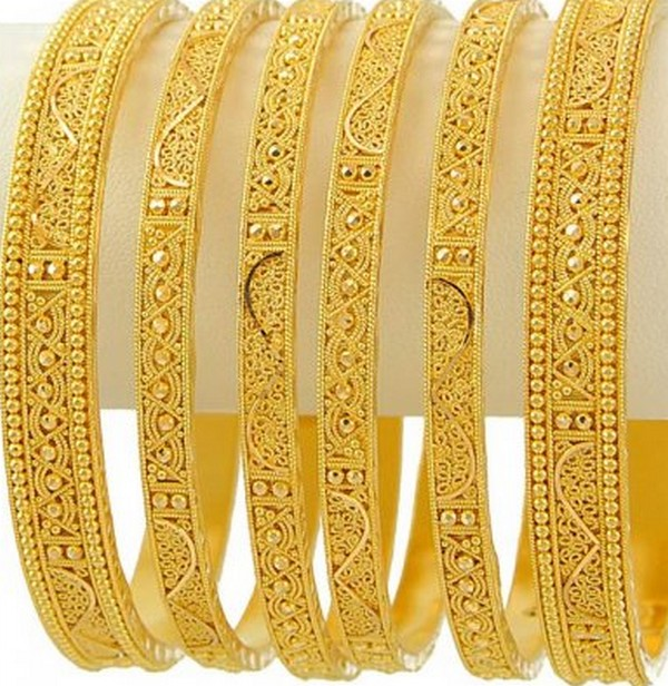 gold bangle designs queen of heaven
