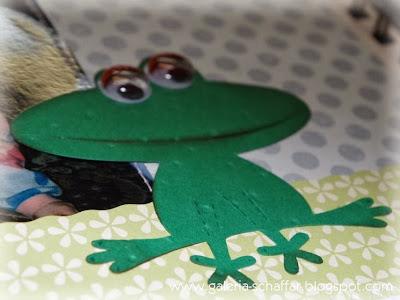 wesoły kolorowy album żaba ruchome oczy scrapbooking galeria schaffar