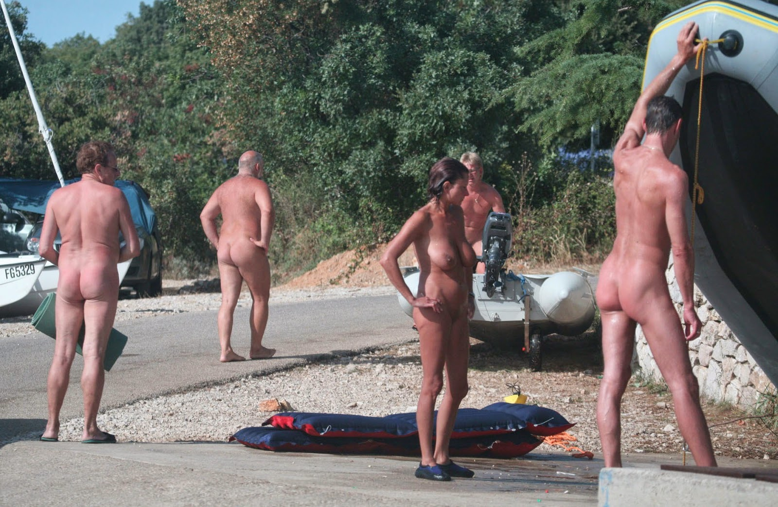 Hot. nudist camp photo she never