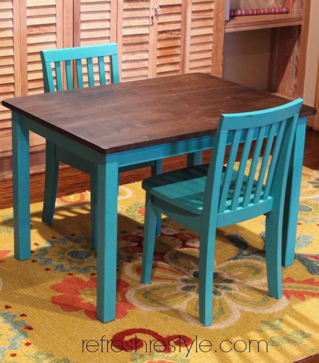 Kids Kitchen Table: 12 Fun DIY Kids Table Makeovers