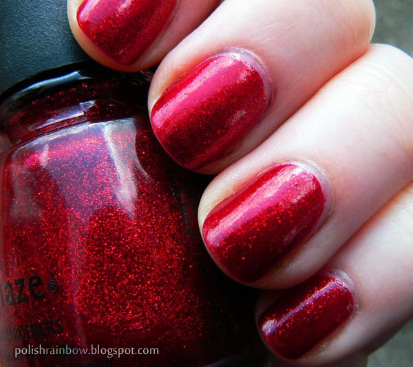 Somewhere Over The Polish Rainbow: China Glaze Ruby Pumps