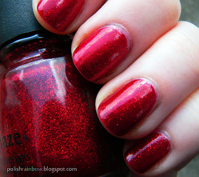 China Glaze Ruby Pumps.