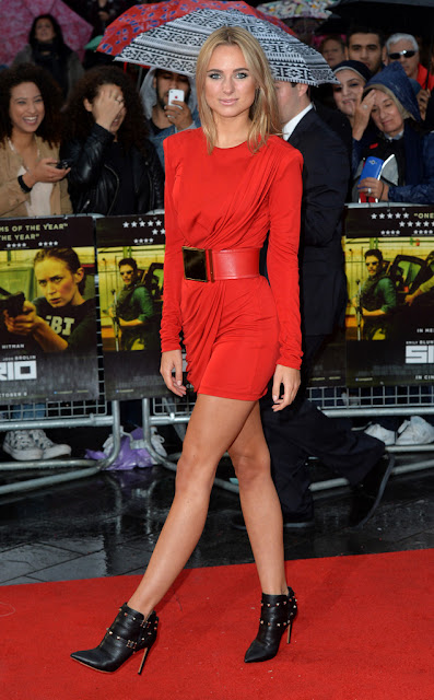 Television Personality, Actress ,Socialite @ Kimberley Garner - 'Sicario' premiere in London