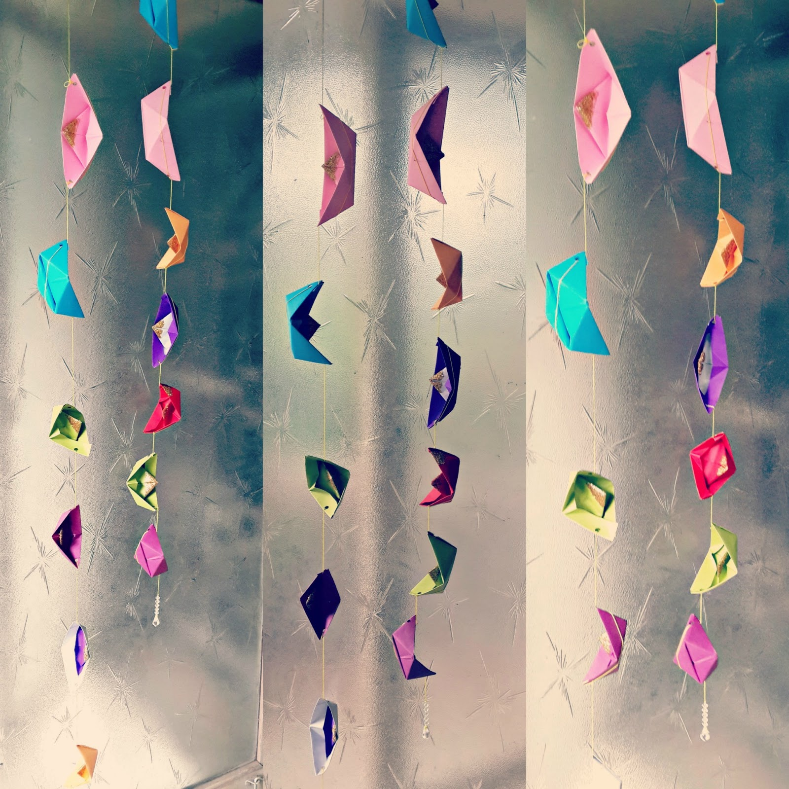 DIY Colourful Paper Boat Strings For Your Home