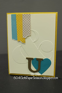#Valentine's Day card by Ida Chan #StampinUp #Bermuda Bay Celebration Kit