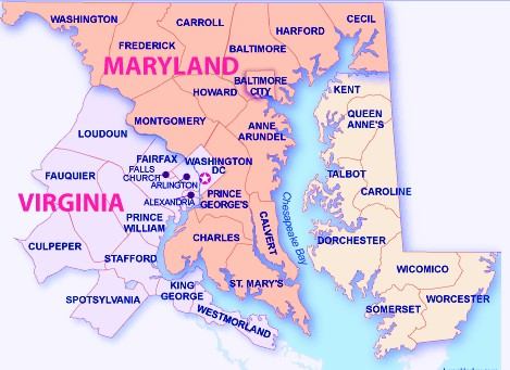 Maryland Counties Map Cities State Map  Map Of USA States