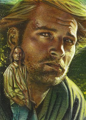 Josh Holloway as Sawyer, Original Sketch Card © 2012 Jeff Lafferty