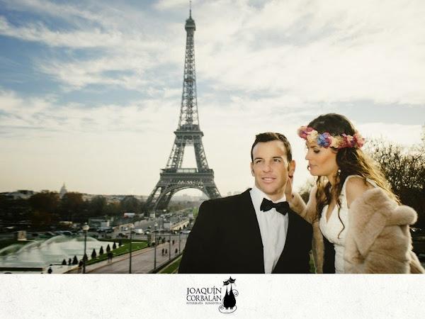 La sesión post boda de Majo y Andrés en París