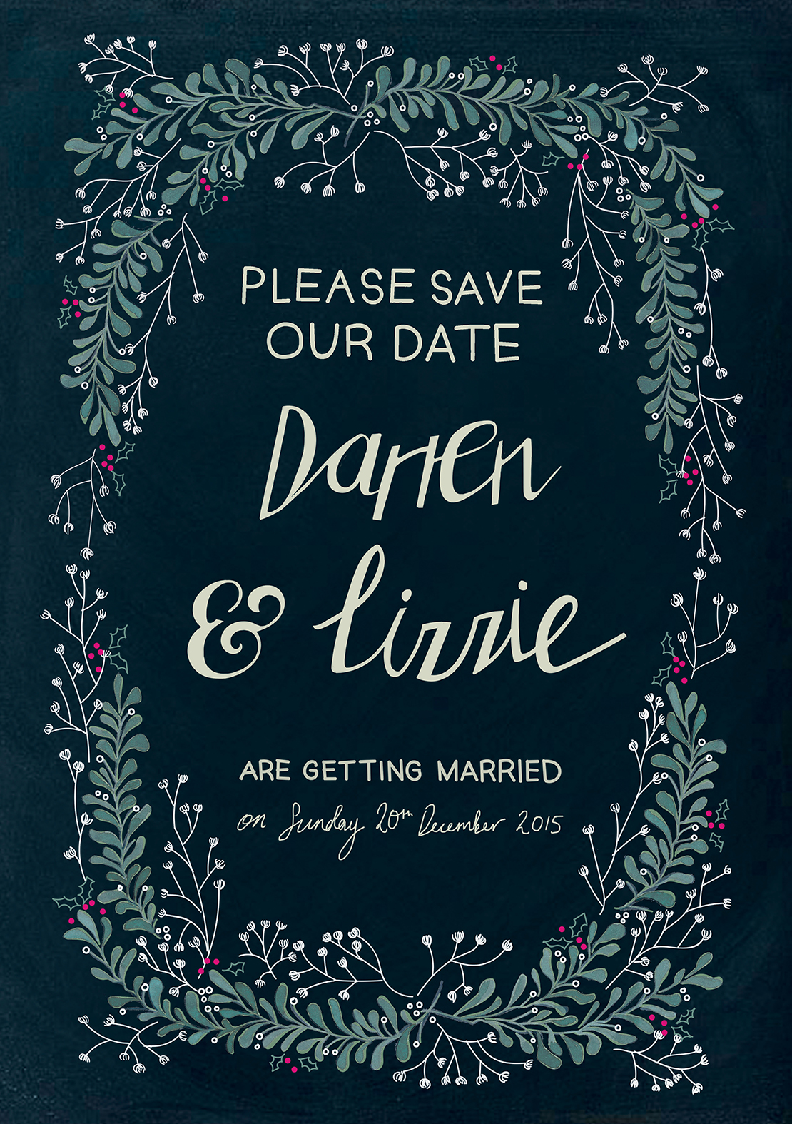 wedding invite illustration