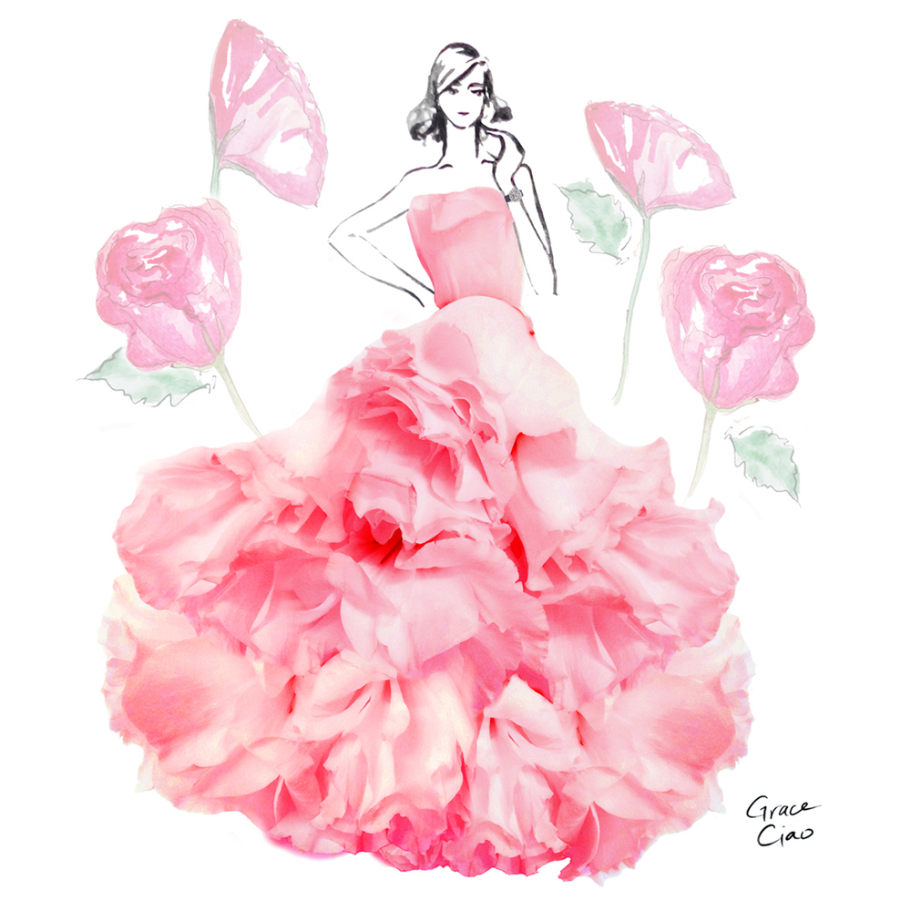 06-Eustoma-Nature-and-Grace-Ciao-Design-and-Draw-Dresses-with-Petals-www-designstack-co