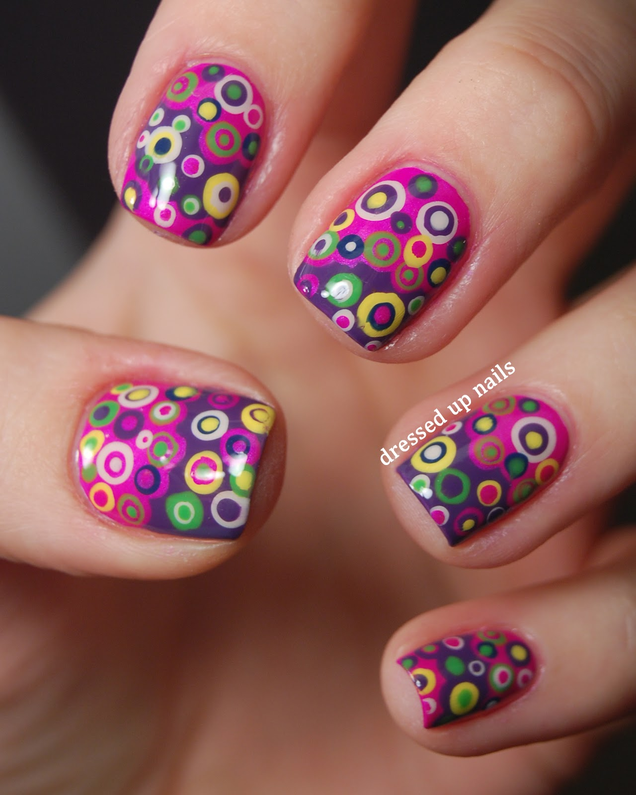 The Astonishing Purple flower nail arts Image