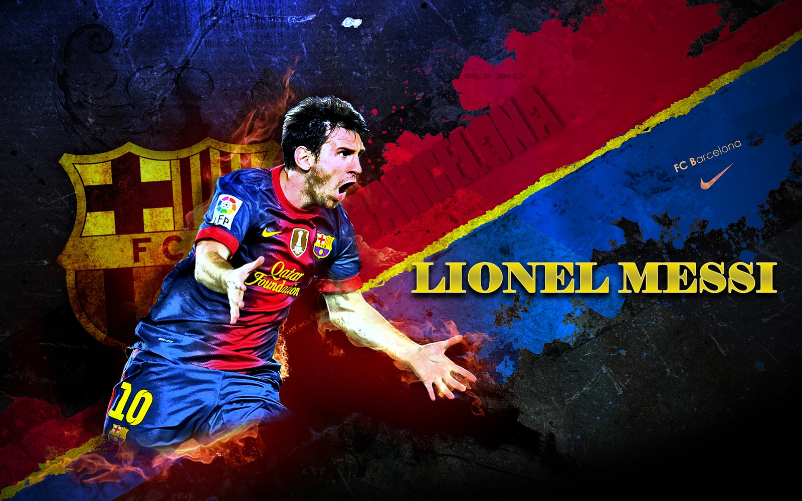 Best Messi HD wallpaper - fire