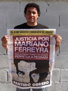 JUAN C. CRUZ, TRABAJADOR JUDICIAL, DE LA AJB DPTAL., TAMBIÉN QUIERE JUSTICIA POR MARIANO
