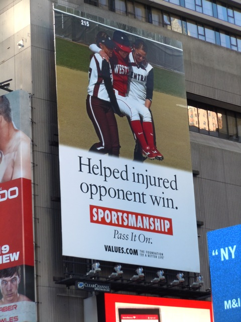 Sportsmanship Values billboard