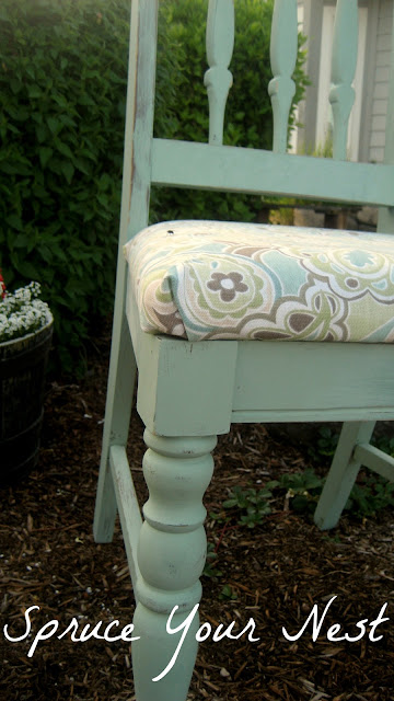 painting chair, reupholster, diy, fabric