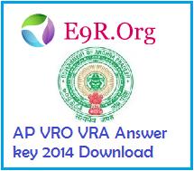 AP VRO VRA Set A, B, C, D Answer key 2014 Download ccla.cgg.gov.in