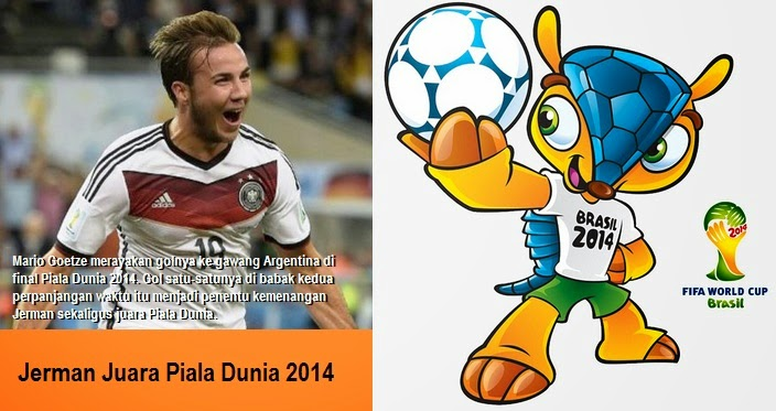 Gol Mario Goetze Membawa Jerman Juara Piala Dunia 2014