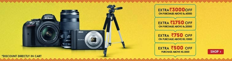 Snapdeal: Buy Cameras & Accessories with extra upto Rs. 3000 off