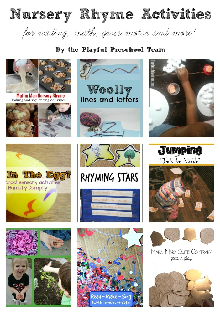 Nursery Rhyme Crafts and Activities for Preschoolers