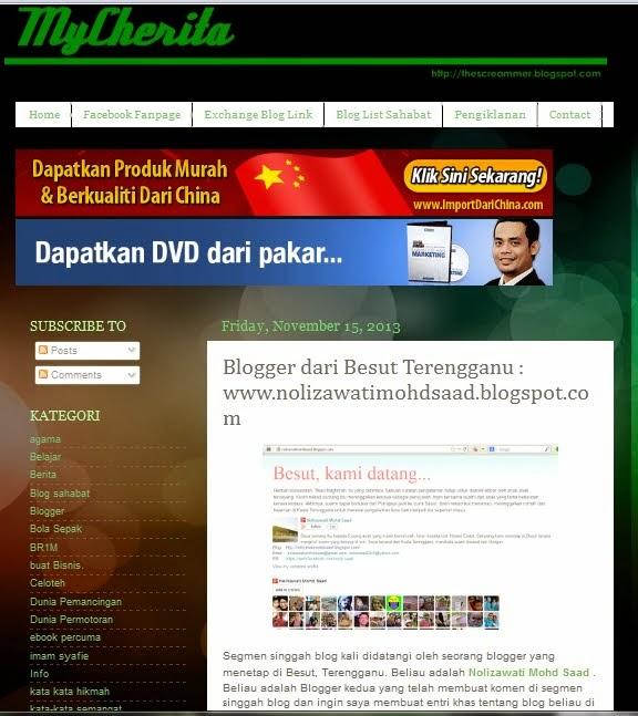 Blog ini di My Cherita
