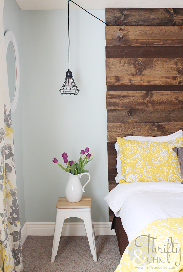 Thrifty and chic diy projects and home decor - Floor to ceiling headboard ...