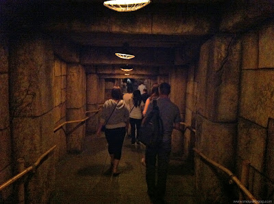 Indiana Jones Adventure Disneyland Temple exit path tunnel
