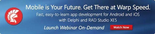 RAD Studio XE5 Launch Webinar on demand. Watch now.