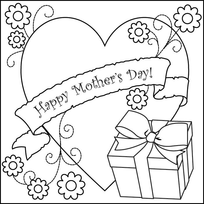 Dibujos para colorear del día de la madre title=