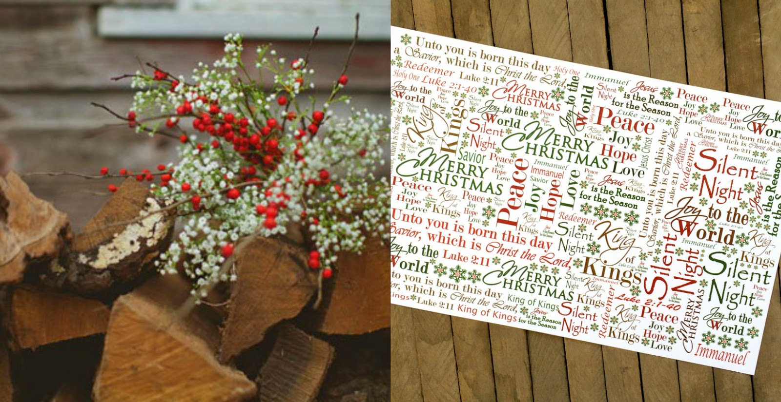 Christmas Place Mats, Christmas Flowers, Christmas Centerpieces, Christmas Tablescapes, Outside the Box Papers