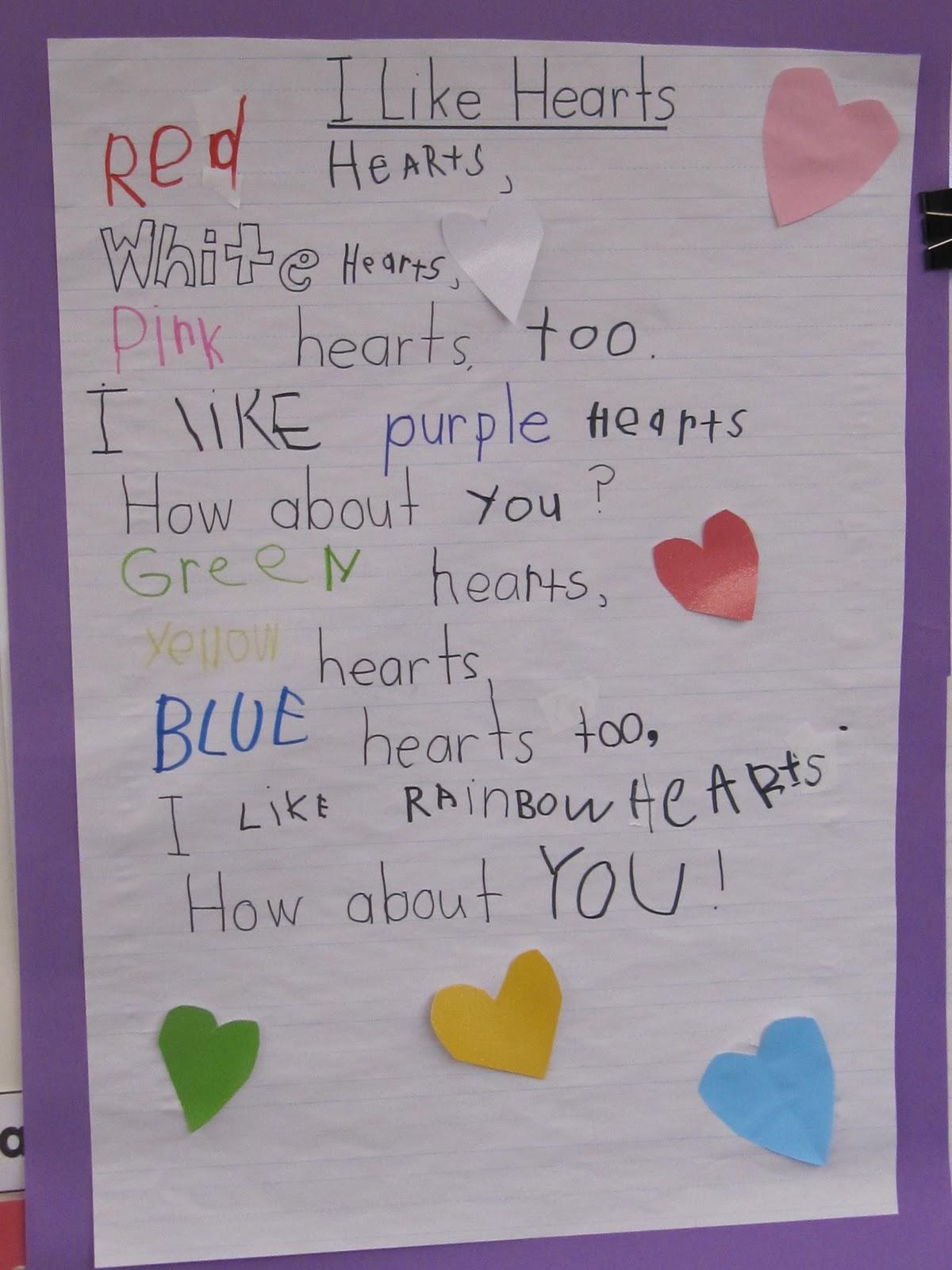 KC Kindergarten Times I Like Hearts